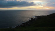 Stock Video Footage of Dramatic view over sea at garopaba - version 3