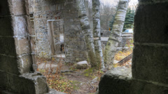 A dynamic timelapse of the ruins at an old grist mill. Stock Footage