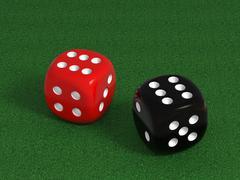 Noppaa pokeripöydässä Piirros