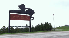 Sign at entrance of Crazy Horse Memorial Stock Footage