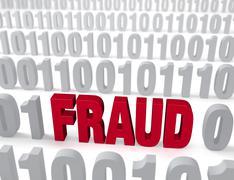 Stock Illustration of computer fraud