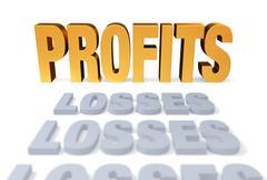 profits at last - stock illustration