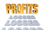 Stock Illustration of profits at last