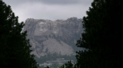 Mount Rushmore seen from distance Stock Footage