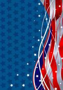 patriotic background - stock illustration