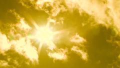 Hot Sunny Day Sun and Clouds Stock Footage