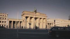 Brandenburg Gate Berlin Germany Stock Footage
