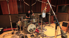Recording Studio Drummer 19 Stock Footage