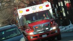 EMS Ambulance, angle, responding, DC Stock Footage