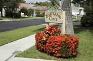 Stock Photo of eastland cove neighborhood sign