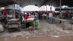 The rural market,Shaanxi,China Stock Footage