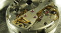 Clock Gears Mechanism Pocket Watch Closeup Interior Clockworks Concept Time Fly Footage