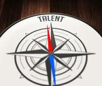 Stock Illustration of talent word indicated by compass