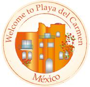 Welcome to Playa del Carmen Stock Illustration