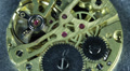 Mechanism Old Pocket Alarm Clock Closeup Selective Focus Lifetime Concept Watch Footage