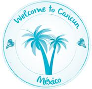 Welcome to Cancun Stock Illustration