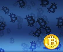 Bitcoin image background Stock Illustration
