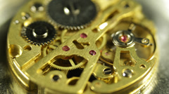 Time Keeper Iron Mechanism Perfect Mechanical System Pocket Watch Clock Teamwork - stock footage