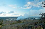 Stock Photo of smoking crater of halemaumau kilauea volcano in hawaii volcanoes national park