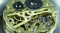 Old Watch Clock Component Mechanism Golden Gears Elements Chain System Cogs Ruby Footage
