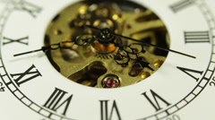Clock Face Busy Business Corporate Deadline Time Flies Office Duty Working Pass Stock Footage