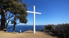 Cross On Cliff 01 HD Stock Footage