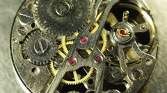 Ancient Clock Mechanism Run Working Busy Day Office Corporate Rush Hour Deadline Stock Footage