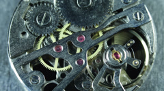 Old Clock Mechanism Ticking Working Rush Hour Office Break Vacation Time Fly Go - stock footage