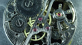 Ancient Gears Old Clock Working Macro View Office Corporate Break Counter Detail Footage