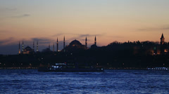 Stock Video Footage of famous place in istanbul scene
