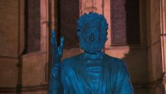 Son of man Canterbury cathedral Stock Footage