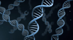 DNA helix strand structures for genetic and medical research - stock footage