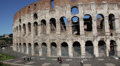 Rome: people walking outside the Colosseum Footage