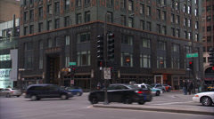 Carbide and Carbon Building - Downtown Chicago Stock Footage