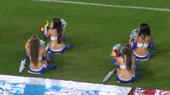 Cheerleaders, Talent, Performers - stock footage