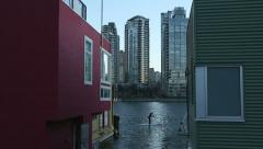 False Creek, Stand Up Paddleboarding Stock Footage