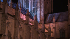 Canterbury cathedral pan up tower Stock Footage