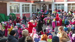 Celebration of Shrovetide in Russia, HD, sound Stock Footage