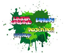 graffiti background - stock illustration