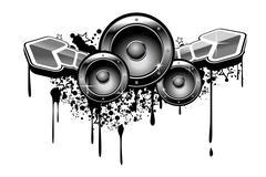 music grunge - stock illustration