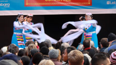 Traditional Dancing (Wan Lin Dance Troupe) Stock Footage