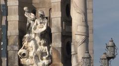 Barcelona - Catalonia - Spain - Plaça d'Espanya Fountain - HD 1920 X 1080P Stock Footage