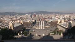 Barcelona - Catalonia - Spain - Skyline - HD 1920 X 1080P Stock Footage