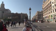 Barcelona - Catalonia - Spain - Plaça de Catalunya - HD 1920 X 1080P - stock footage