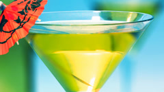 Martini glass Stock Footage