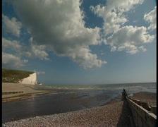 White Cliffs at Cukmere Haven Eastbourne, UK Stock Footage