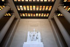 Lincoln Memorial Interior Wide Angle Stock Photos