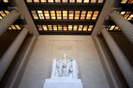 Stock Photo of Lincoln Memorial Interior Wide Angle
