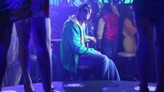 People are enjoying in night club Stock Footage