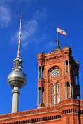 Berlin Fehrenstrum and Rathaus - stock photo